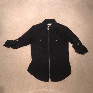 Michael Kors Black Zipper Shirt